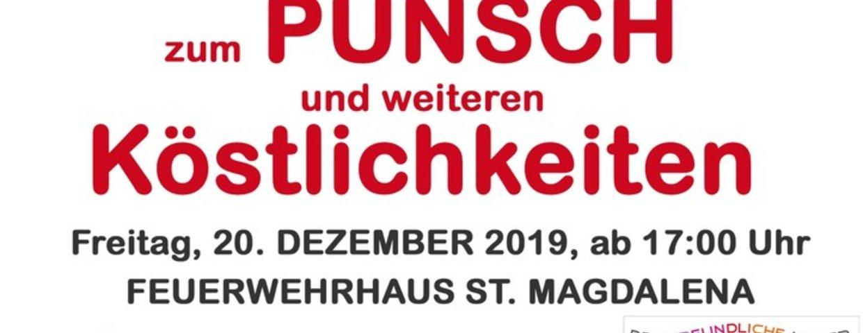 Einladung Punschfest 20.12.2019 17Uhr