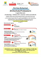INFO Zivilschutz- Probealarm